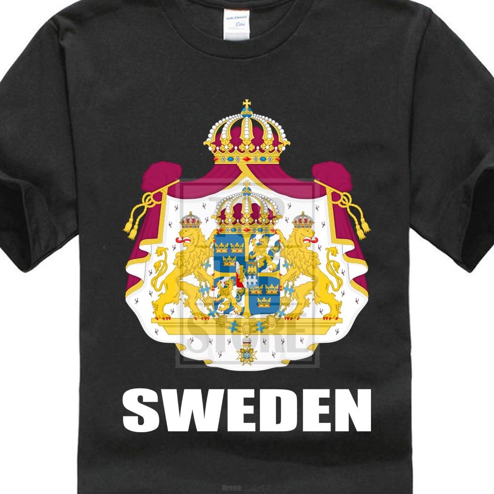 Sweden Flag Sweden Footballer Fan Jersey T Shirt Men Tees ...