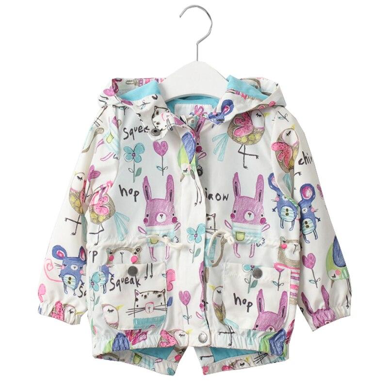 Новые весенние куртки для девочек милая куртка в стиле «граффити» Верхняя одежда с капюшоном и застежкой-молнией для девочек, ручная роспис...