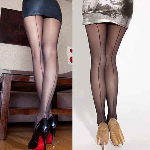 24881280f New Arrival Sexy Women s Ultra Sheer Transparent Line Back Seam Tights  Stockings Pantyhose