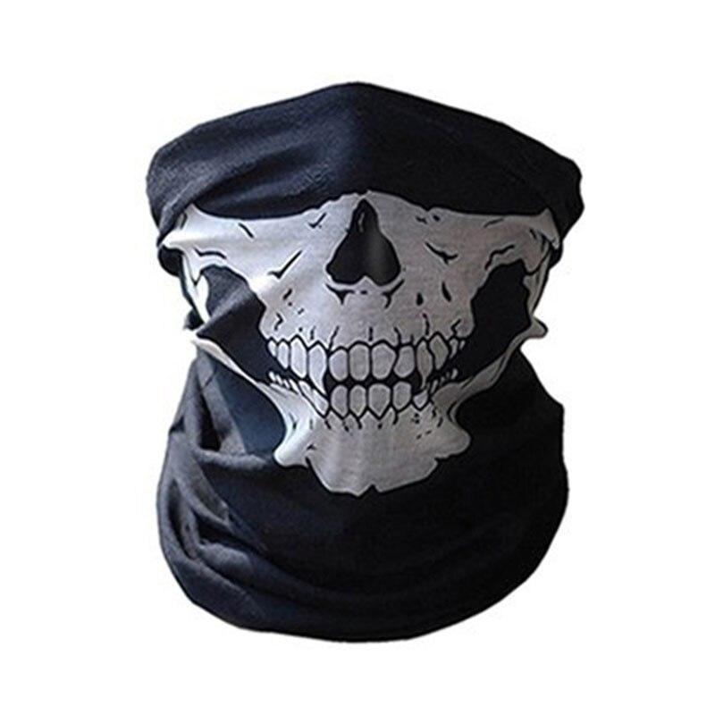 1 шт. для женщин мужчин велосипед Мотоцикл Череп Бандана Шарф средства ухода за кожей шеи маска-шлем для лица - Цвет: grey