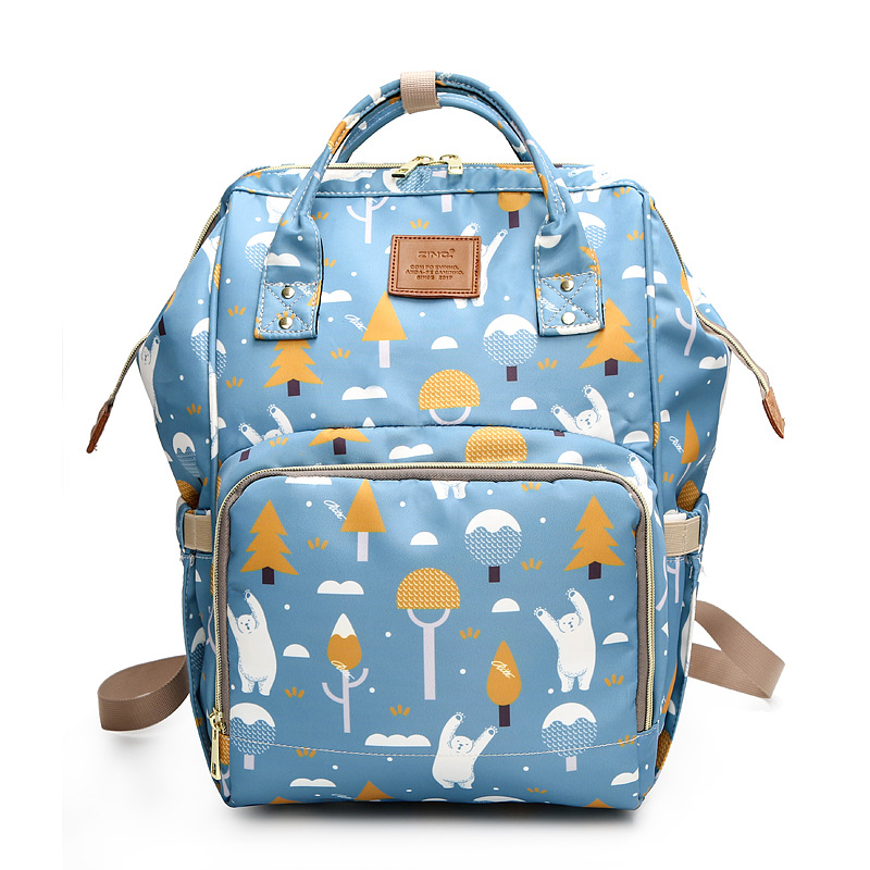 Waterproof Baby Diaper Bag Large Baby Nappy Bag Priinted Backpack Maternity Bags Baby Care Changing Bag for Stroller baby dining lunch feeding booster seat maternity baby diaper nappy bag multifunction fashion hobos messenger bags for baby care