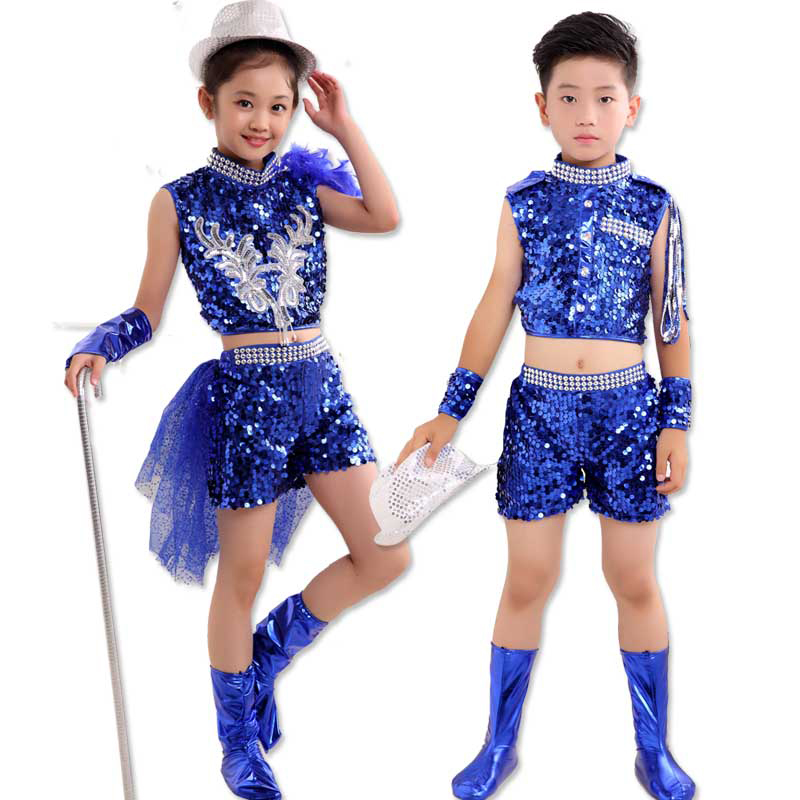New Girl Boy Jazz Dance Girls Jazz Dance Costumes For Girls Kids S Hip Hop Dancing Children Performance Jazz Costumes For Girl