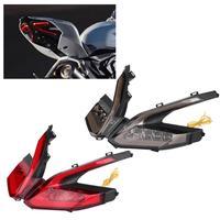 Мотоцикл светодиодные Стоп Хвост указатель поворота для Ducati Panigale 959 2016 2018 красный/дым