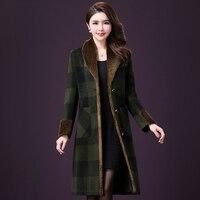 Large size Autumn Women Wool Coat 2018 New Woolen Coat Women Long Paragraph Solid Color Cashmere Coat M 4XL Thick Wool Coat O239