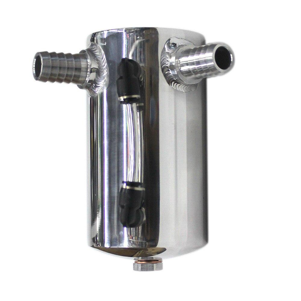 SPSLD Car Styling Universal Oil Catch Tank Reservoir Engine Fuel Seperator Can Aluminum 500ml 2*19MM|Fuel Tanks| |  - title=