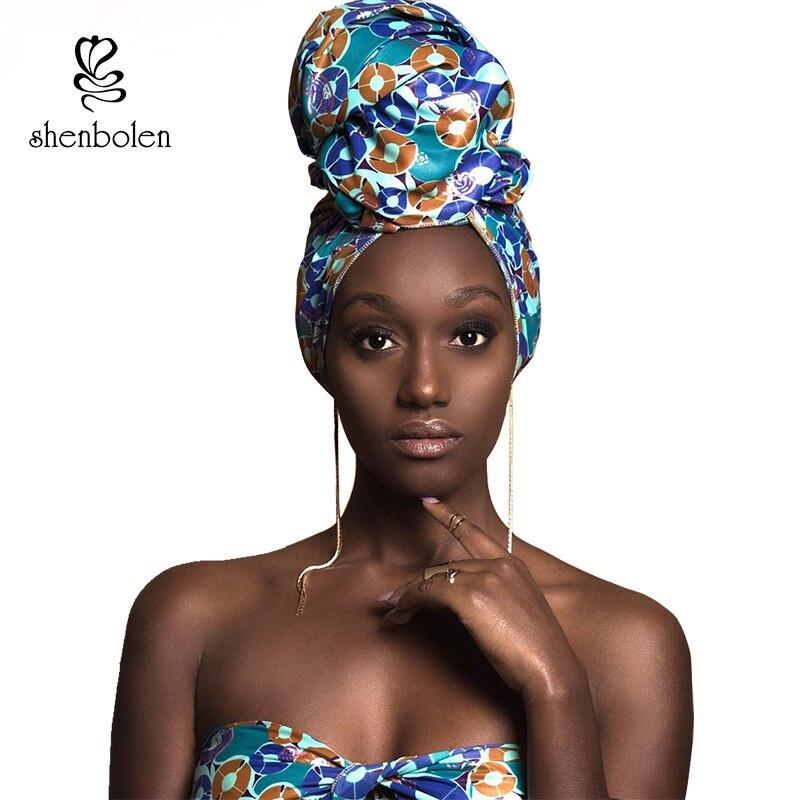 African headtie print headwrap ankara wax fabric 100% pure cotton scarf kente scarves dashiki printing for women lady new style