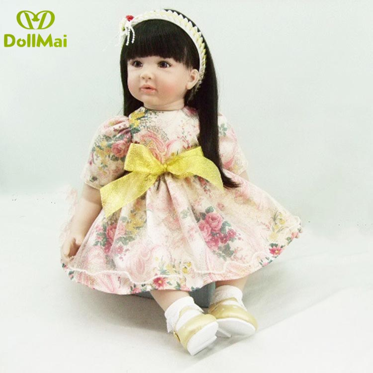 23-24inch Bebe Reborn Doll 58-60cm Silicone Girl Toy Non-toxic Reborn Baby Doll for Children latest 2019 Gift play house toy dol23-24inch Bebe Reborn Doll 58-60cm Silicone Girl Toy Non-toxic Reborn Baby Doll for Children latest 2019 Gift play house toy dol