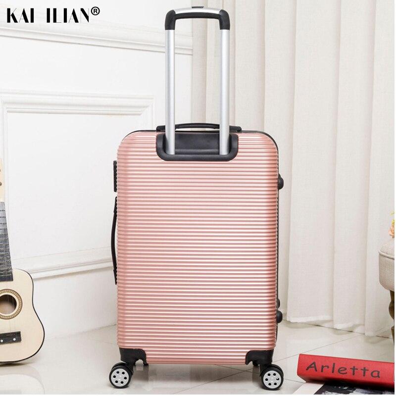 HOT 20/24/28 pouces roulement bagages Sipnner roues ABS + PC femmes valise de voyage hommes mode cabine bagage à main trolley boîte - 3