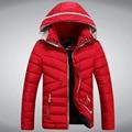 2015 новый бренд мужской зимние куртки для мужчин куртка с капюшоном высокое качество синий черный красный зимнее пальто мужчины пуховики Droship 5Z