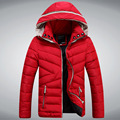 2015 nova marca inverno casacos para homens jaqueta com capuz de alta qualidade azul casaco de inverno homens casacos Droship 5Z