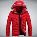 2015 nueva marca para hombre invierno chaquetas para hombre chaqueta con capucha alta calidad azul negro Red Winter Coat hombres chaquetas Droship 5Z