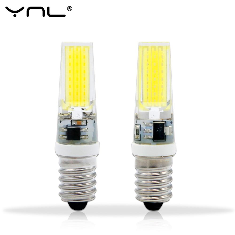 YNL E14 LED Lamp 220V 3W COB 2508 LED Bulb LED Light 360 Beam Angle Chandelier Lights Replace Halogen E14 Lamps ynl dimmable led e14 lamp ac 220v 9w mini cob led e14 bulb new arrival 360 beam angle replace halogen chandelier lights