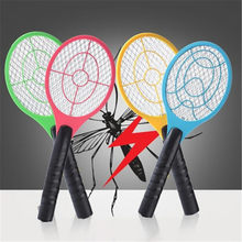 Nieuwe Elektrische Tennis Bat Handheld Racket Insect Fly Bug Wasp Mosquito Swatter Killer(China)