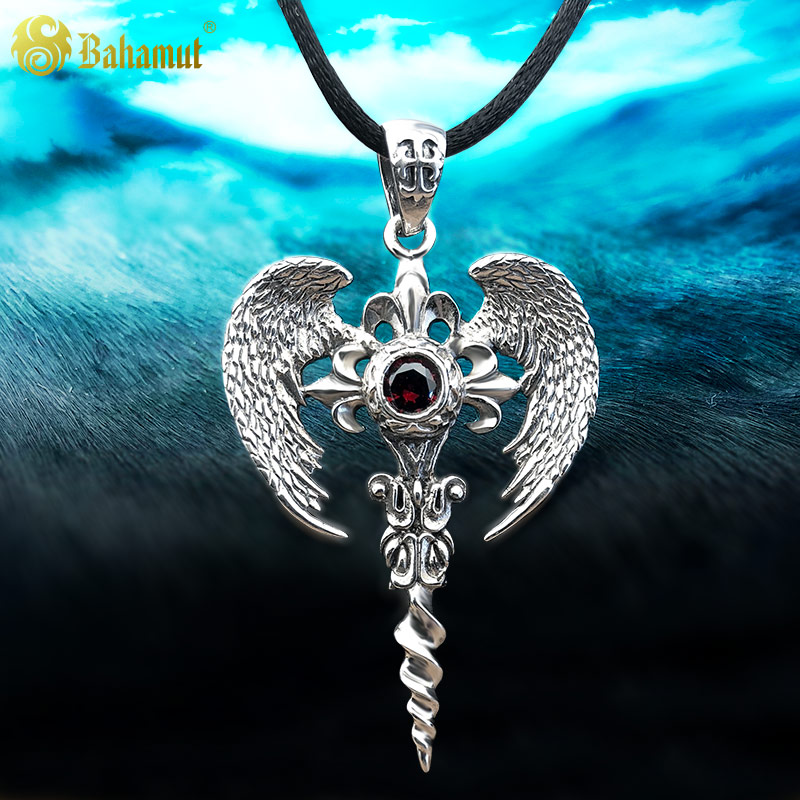 цена на Top Quality Men Necklace Archangel Pendant 925 Silver Charming Jewelry for Women Men Cosplay Gift Christmas
