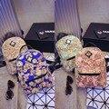 Estilo coreano mujeres mochilas mochila impresión de la lona bolsas mochilas escolares lindos para adolescentes mochila escolar feminina