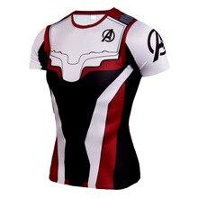 Summer Men Yoga Shirts 3D Printed Elastic T-shirt Sweatshirts Male Running Jogger Fitness Gym Exercise Athletic Shirt Sportswear
