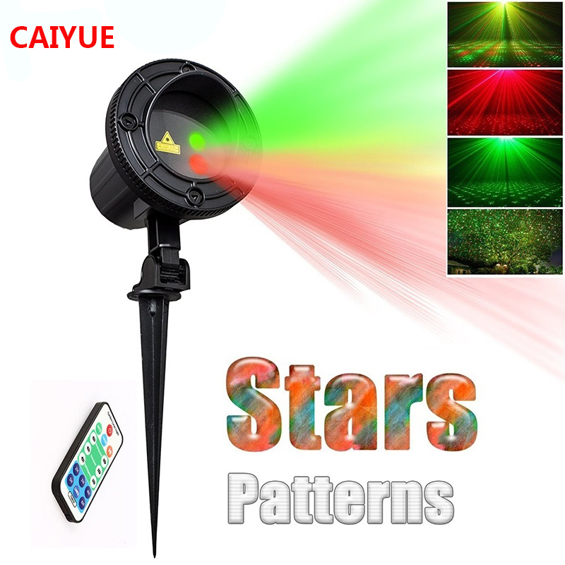 Laser Stars Light Projector Christmas Garden showers Waterproof Outdoor lawn lamps with RF Remote Red Green Mix Moving Twinkle icoco outdoor led stars laser projector flood light remote control red green blue showers light garden christmas new year decor