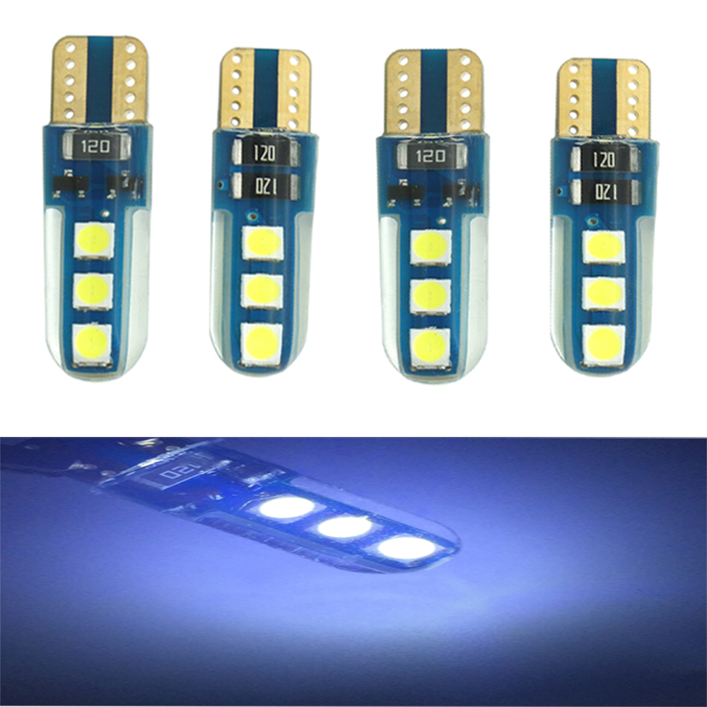 100PCS 2017 New Product Super bright Canbus T10 3030 6SMD 194 168 2825 W5W LED Bulb For Meter Light Car Replacement Lights carprie super drop ship new 2 x canbus error free white t10 5 smd 5050 w5w 194 16 interior led bulbs mar713