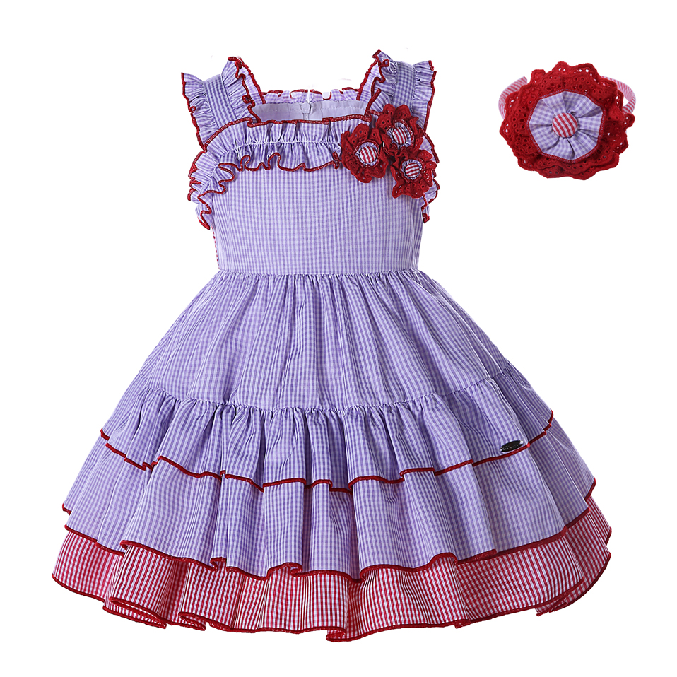 Girls Purple School Dress