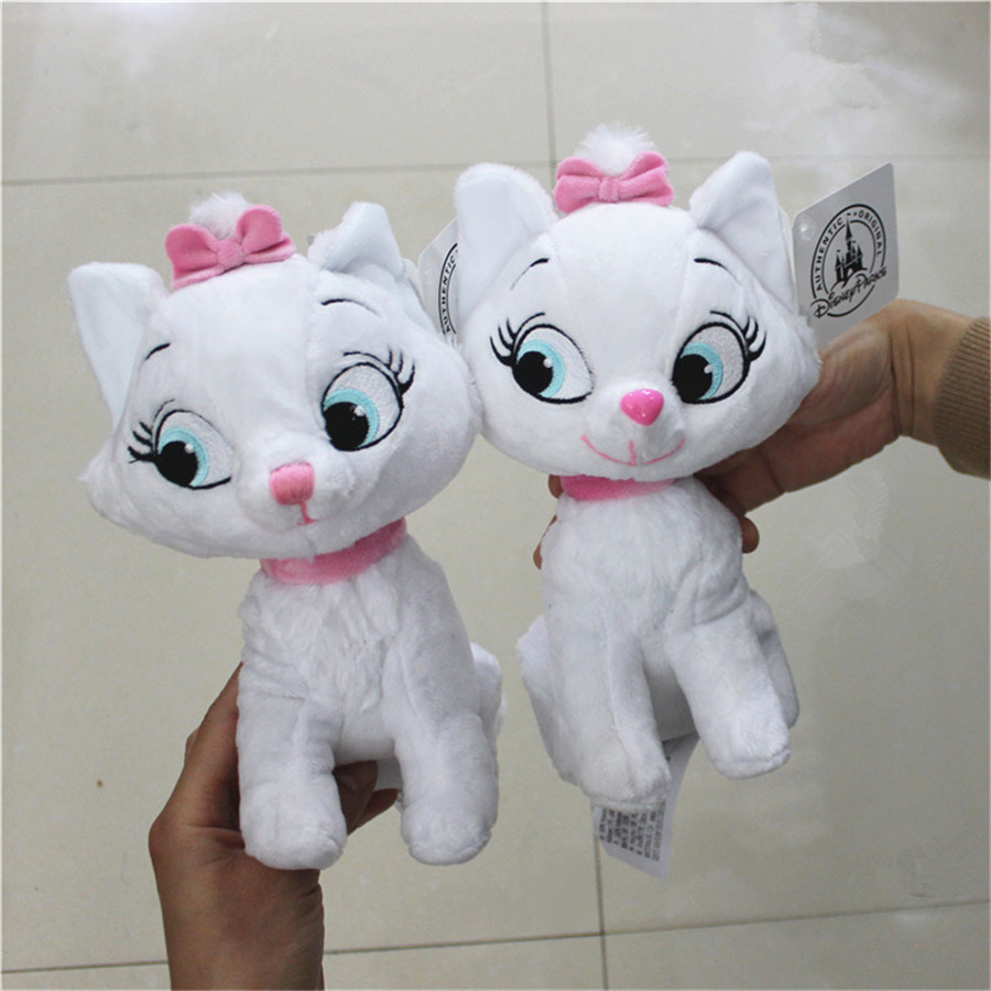 1 Piece 22CM  Marie Cat  Plush Toy The Adventures Of The Cat Marie Cat Stuffed Doll Birthday Gift Collection Toys