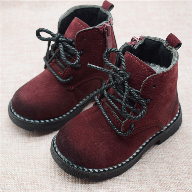 Size 21-30 Fashion 2019 Autumn Boys Baby Boots For Girls Children Martin Boots Kids Ankle Zip Sneakers Girl Casual Toddle Shoes 5