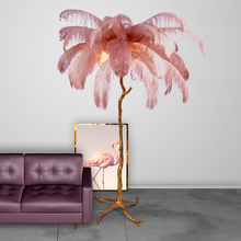 Nordic LED Floor Lights Bedside Bedroom Luxury Tree Branch Feather Lamp Stand Light Living Room
