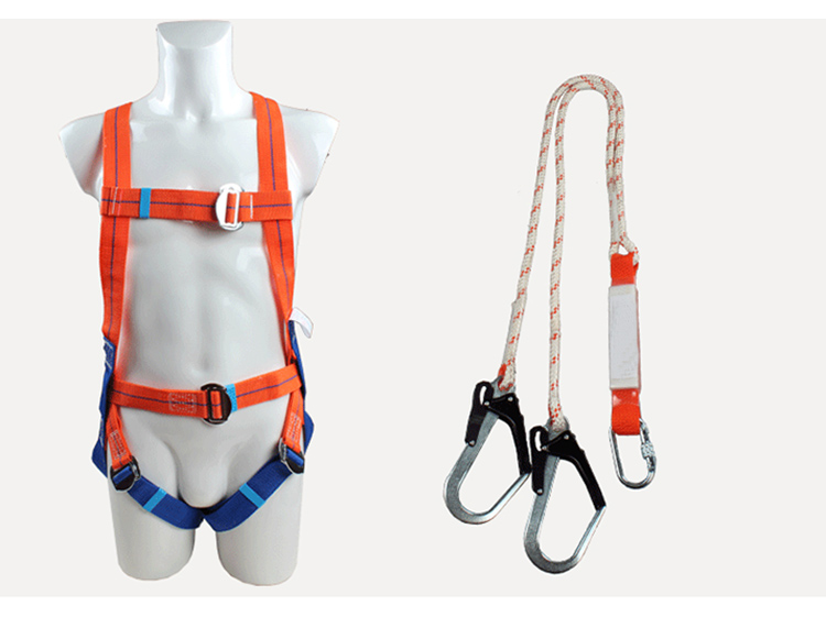 Safety Harness Five-point Type Systemic Safety belt with Double hook High-altitude operations Fall prevention Protect equipment (14)