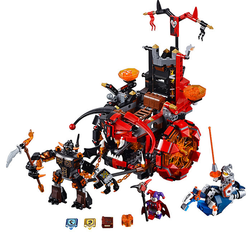 ФОТО 675pcs Nexo Knights Jestro's Evil Mobile Mixed Building Block Sets  Bricks Learning Kids Toys For Children