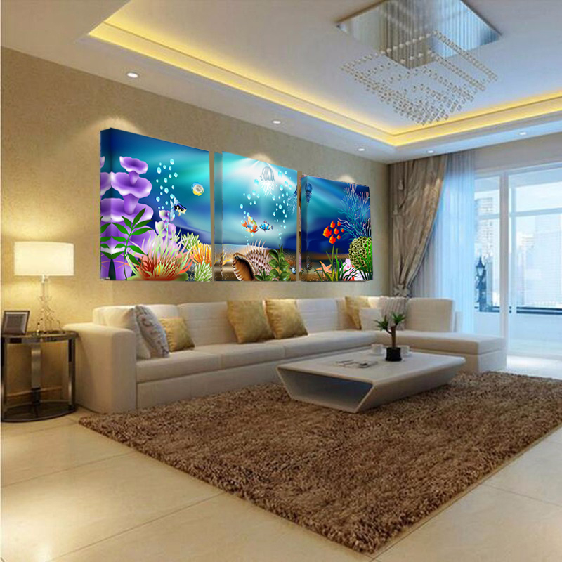 House Decoration Craft Kissing Fish Home Furnishings: Aliexpress.com : Buy Deep Sea Fish And Flower Wall Art