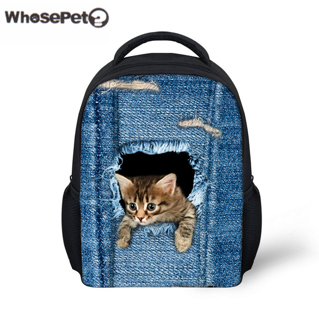e62521bb28 WHOSEPET Cute Cat Mini Backpack For Baby Kids Shoulder Bag Animals Printing  Backpacks 12 inch Small