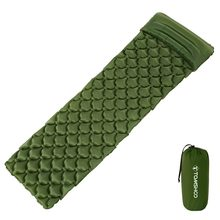 TOMSHOO Camping Mat Inflatable Sleeping Pad Moistureproof Air Mattress Cushion Sofa Bed Outdoor Beach Mattress with Pillow(China)