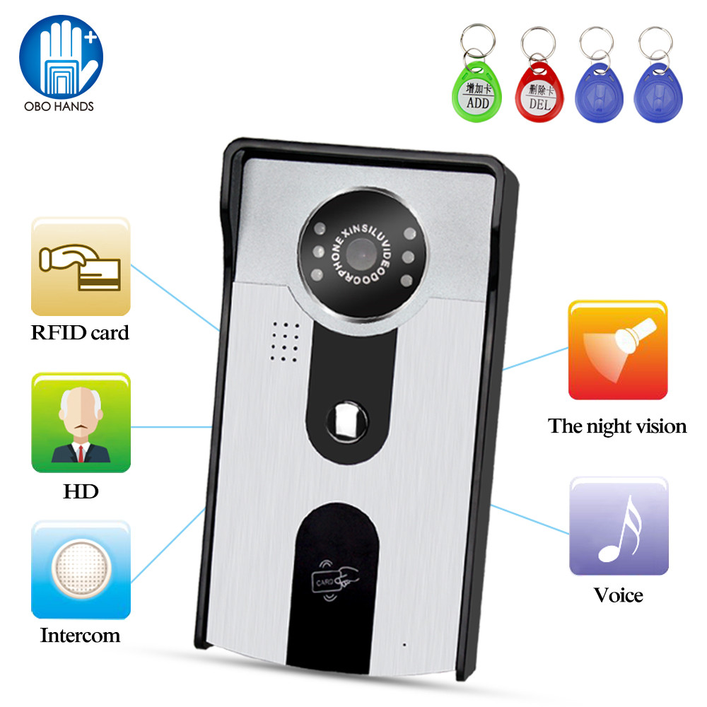 700TVL Video Intercom Doorphone HD RFID Access Camera Waterproof  Outdoor Door Phone Bell IR Night Vision Reader For Home System