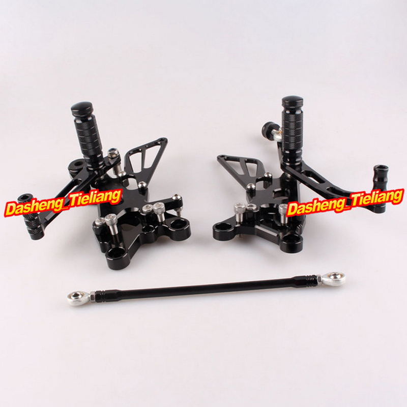 Adjustable Shift Foot Pegs Rear Set Footrests Kit For Yamaha YZF R6 2006 2007 2008 2009 2010 Motorcycle Accessory Parts