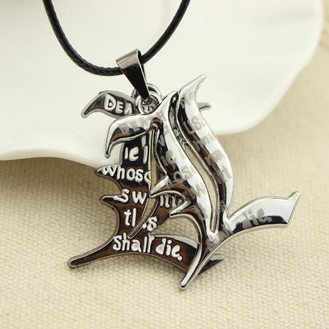 Death Note Leather Rope Necklace Double L