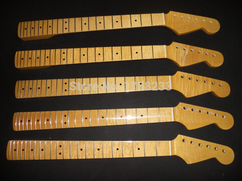 2019  Free shipping 2017 new wholesale stratocaster one-piece neck  tiger maple neck 22 fret in stock new unfinished electric guitar neck truss rod 24 fret 25 5 free shipping dropshipping wholesale