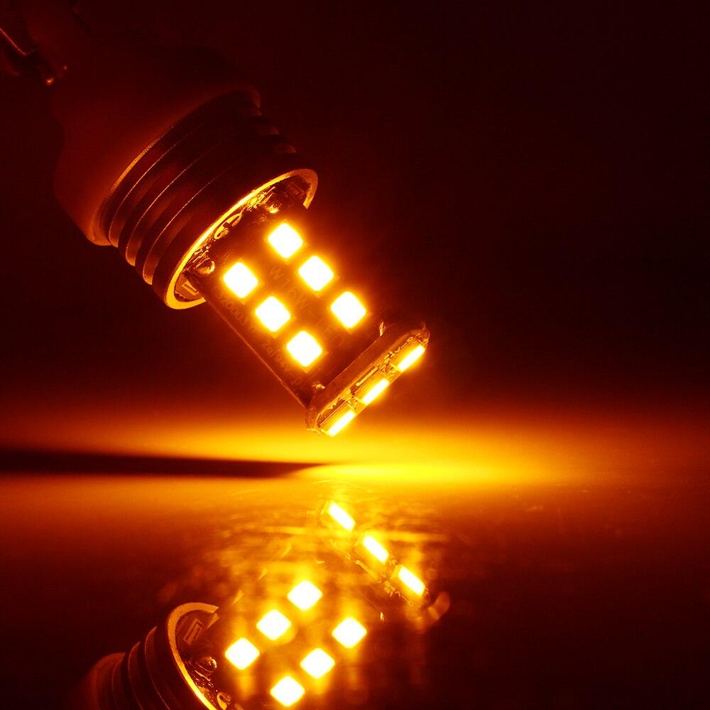 2X T25 3156 P27W 3157 P27/5 Вт 2835 15 SMD 15 светодиодный canbus лампы белого янтаря Красный 12 В 24 В светодиодный Нет Ошибка сигнала Парковка лампы светодиодный свет