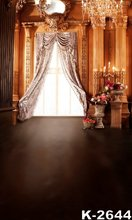 Luxurious Indoor Backgrounds 150x200cm Vintage Palace Photography Backdrops Bright Wedding Photo Studio Backdrops Free Shipping