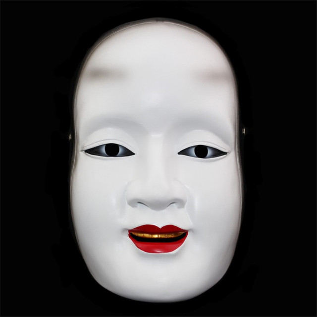 Japanese Ghost Halloween Mask cos Facebook Prajna resin Magojiro adult toy traditional dance party decorative art collection