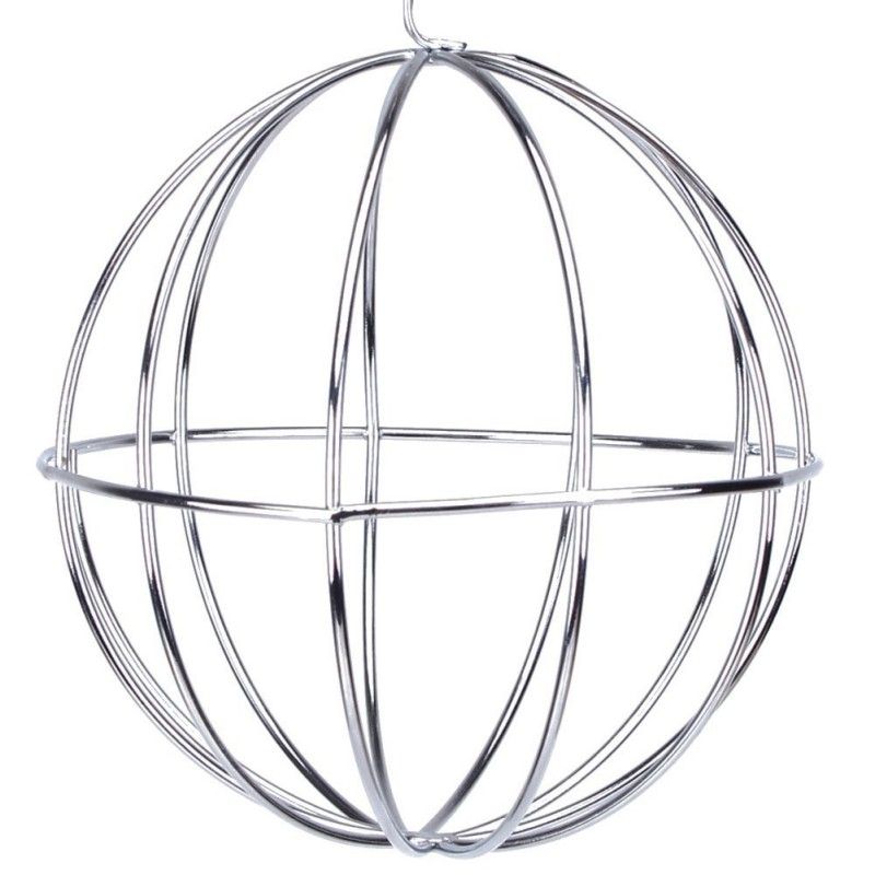 Hay Ball Shape Grass Feeder Tool Food Stainless Steel Plating Rack