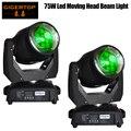 TIPTOP TP-L606A 2 шт./лот 75 Вт светодиодный движущийся головной свет DMX512 15 19 каналов профессиональный светодиодный сценический свет супер эффект лу...