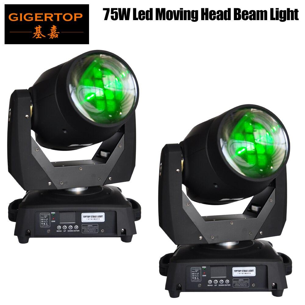 TIPTOP TP L606A 2pcs/lot 75W Led Moving Head Light DMX512 15 19 Channels Professional Led Stage Lights Super Beam Effect