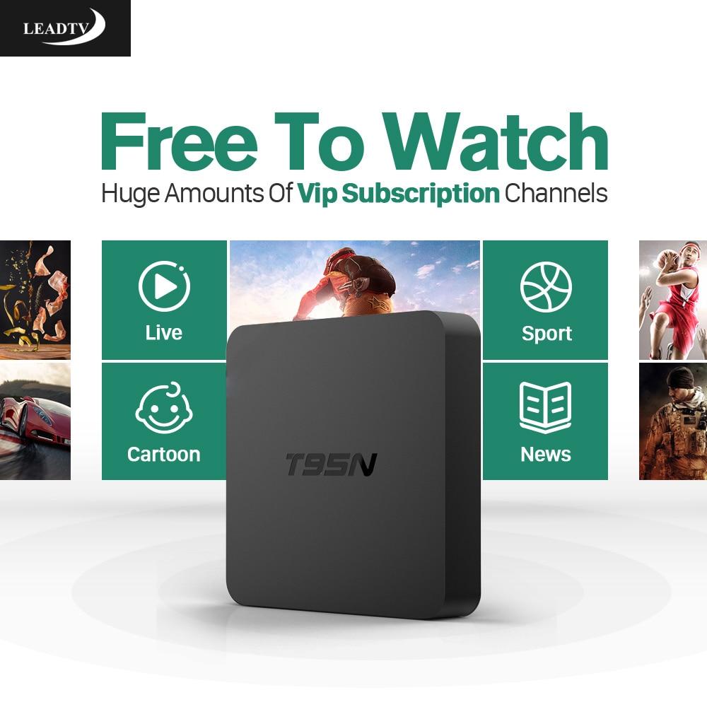 1pcs by post t95x 2gb 16gb 2 years warranty android6 0 tv boxes iptv 4k kodi16 1 amlogic a53 s905x T95N Android 6.0 TV Box Amlogic S905X 2GB 8GB 600 IPTV Subscritpion Arabic French Europe WIFI HDMI 4K*2K HD Smart Set Top Box