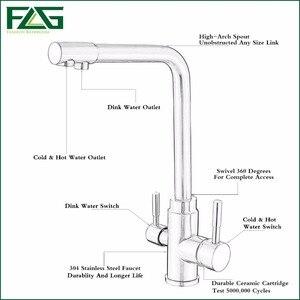 Image 5 - FLG 100% Đồng Vàng Xong Xoay Uống Nước Vòi Rửa Bát 3 Đường Nước Lọc Máy Lọc Vòi Bếp Dành Cho Chậu Rửa Vòi 242 33B