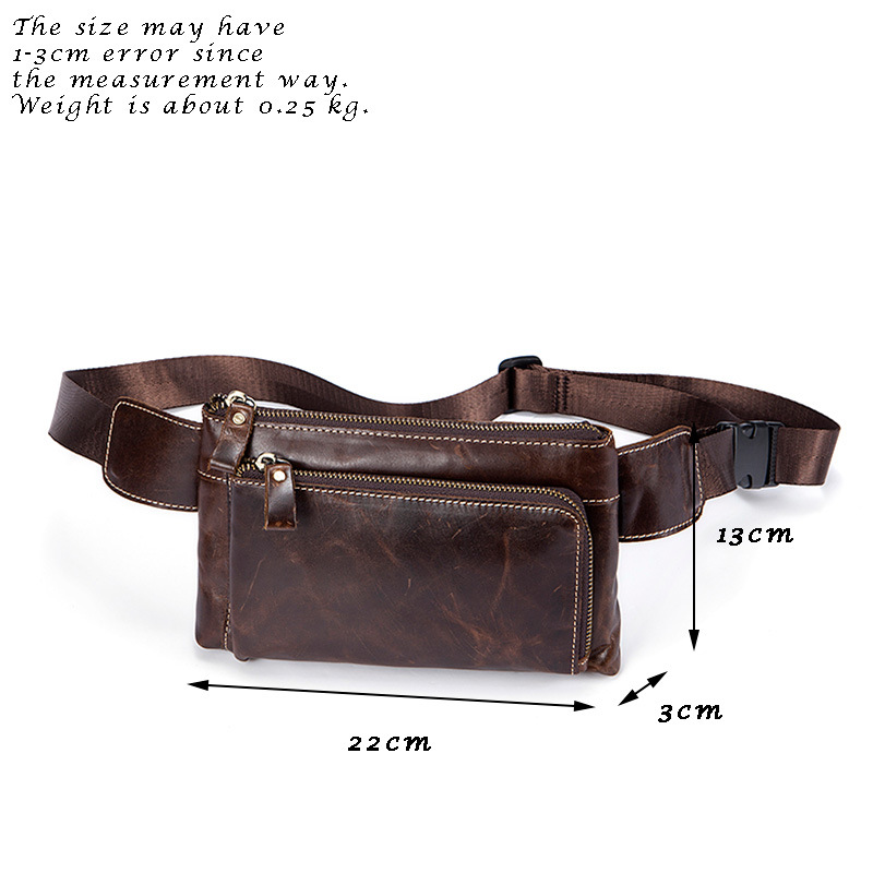 Weduoduo Men Waist Bag Genuine Leather Men Bag Phone Case Cover Travel Money Belt Bag Leather Waist Pack Fanny Pack Waists Pouch in Waist Packs from Luggage Bags