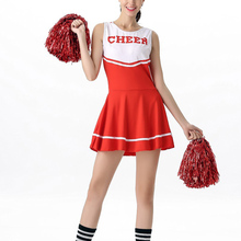 9bbe8cacd MOONIGHT High School Girl Uniform Glee Cheerleader Dress Fancy Costume  Cheerleader Outfit 6 Colors(China