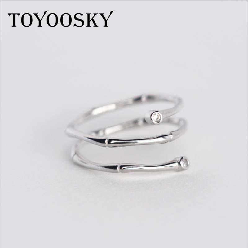 TOYOOSKY 925 ստերլինգ արծաթյա մատանի - Նորաձև զարդեր - Լուսանկար 4