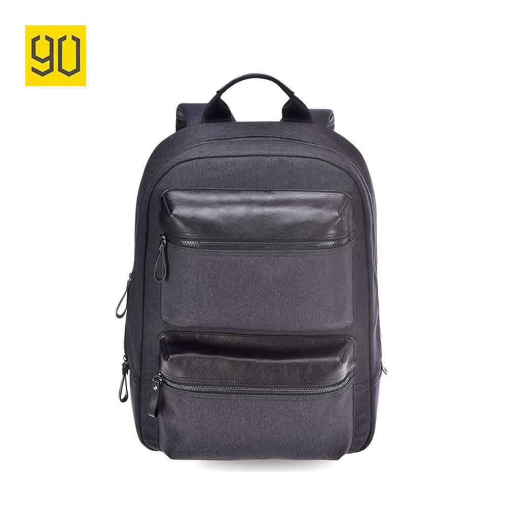 Original Xiaomi 90 Points Multifunctional Canvas Leather Travel Backpack School Bag for 14 inch Laptop Fashion Business Backpack print laptop backpack 17inch bag suit for 13 14 inch laptop student school bag travel bag mountaineering good canvas laptop bag