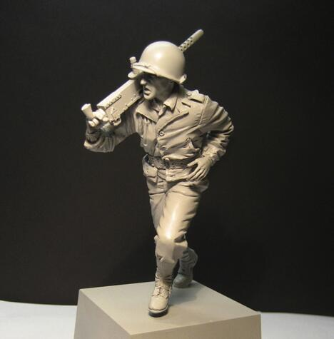 1/16 Wwii Amerikaanse Leger Kaliber. 30 Machine Gun Team Resin Kit Figuur Soldaat Gk Militaire Thema Van Wereldoorlog Ii Ongecoat Geen Kleur Geschikt Voor Mannen, Vrouwen En Kinderen