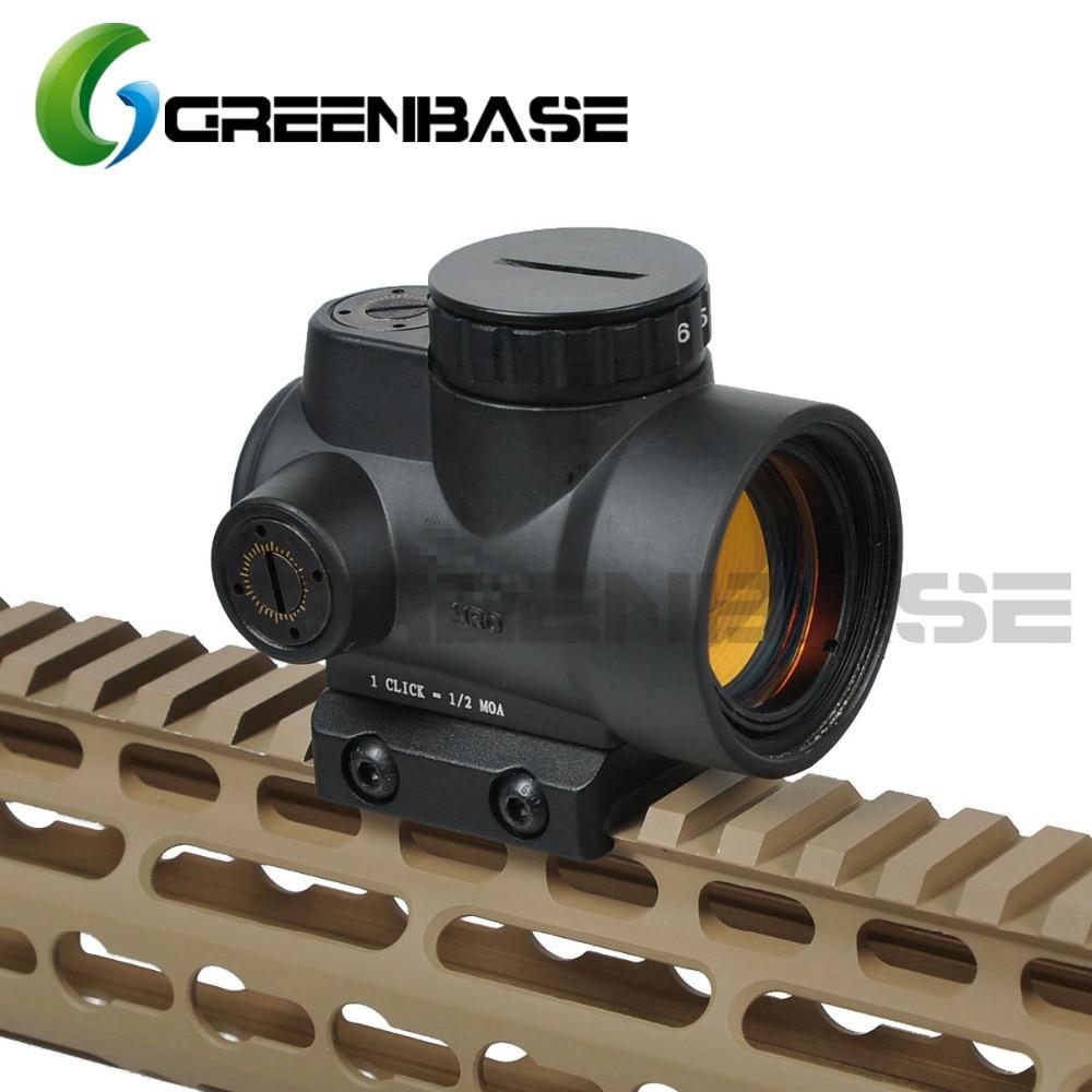 Greenbase Triji MRO 1x point rouge visée 2 MOA tactique point rouge portée avec basse/haute monture Airsoft lunette de tir de chasse