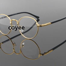7a45aeeff6 Retro Harry Potter Eyeglasses Frames Men Vintage Round Optical Glasses  Frames Gold Prescription Spectacles Computer Eyewear